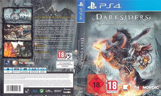 Darksiders Warmastered Edition PS4 Deutsch Cover German german ps4 cover
