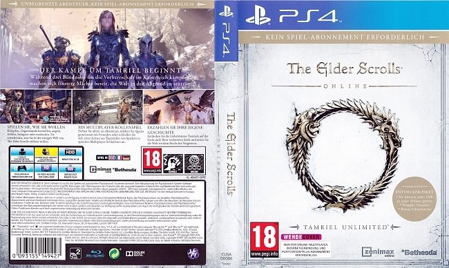 The Elder Scrolls Online Cover Deutsch 1 german ps4 cover