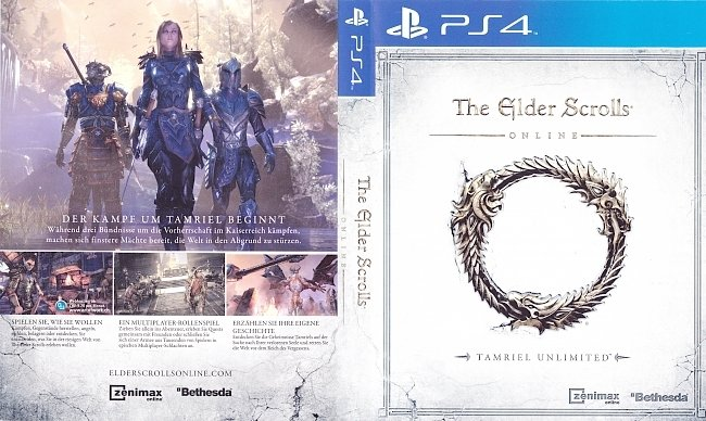 The Elder Scrolls Online Cover Deutsch 2 german ps4 cover