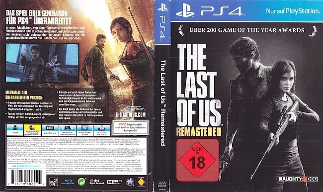 The Last of Us Remastered Deutsch Cover german ps4 cover
