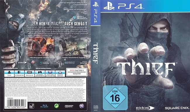 Thief PS4 Cover Deutsch german ps4 cover