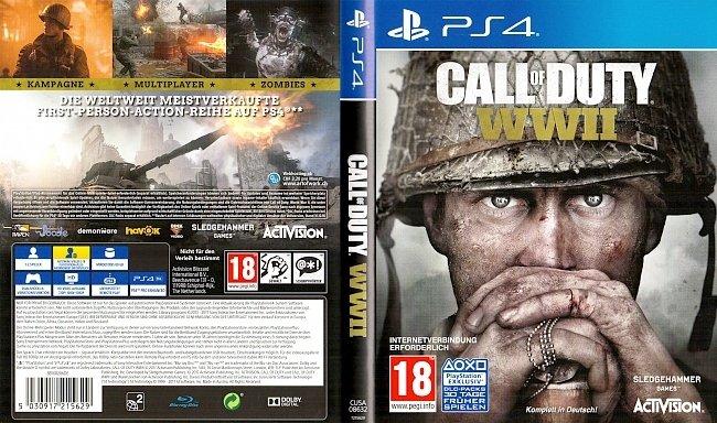 Call of Duty WW2 World War 2 PS4 Cover Deutsch German german ps4 cover