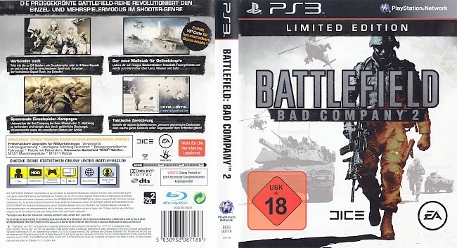 Battlefield Bad Company 2 german ps3 cover