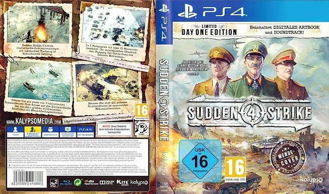 Sudden Strike 4 Playstation 4 Cover Deutsch german ps4 cover