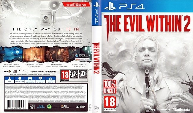The Evil Within 2 PS4 Cover Deutsch German german ps4 cover