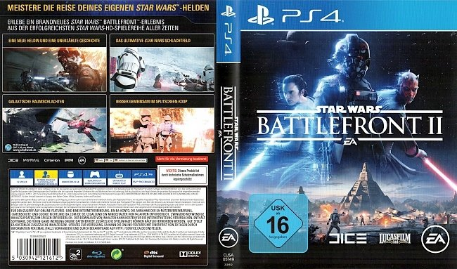 Star Wars Battlefront 2 Cover Deutsch German PS4 Playstation4 german ps4 cover