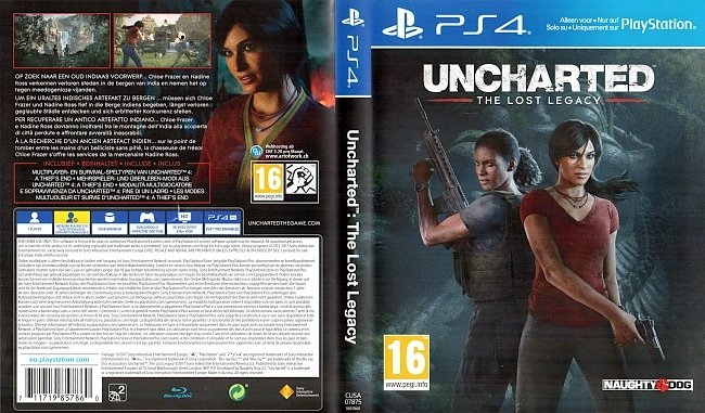 Uncharted The Lost Legacy Cover PS4 Deutsch German german ps4 cover