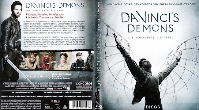 Da Vincis Demons Staffel 1 Season 1 Cover Deutsch German german blu ray cover