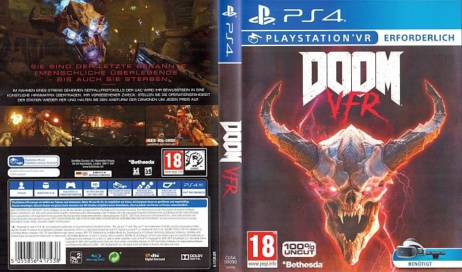 DOOM VFR Cover PS4 Playstation 4 Deutsch German german ps4 cover
