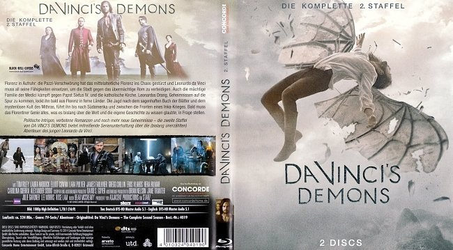 Da Vincis Demons Staffel 2 Season 2 Cover Deutsch German german blu ray cover