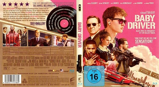 Baby Driver Cover Bluray German Deutsch german blu ray cover