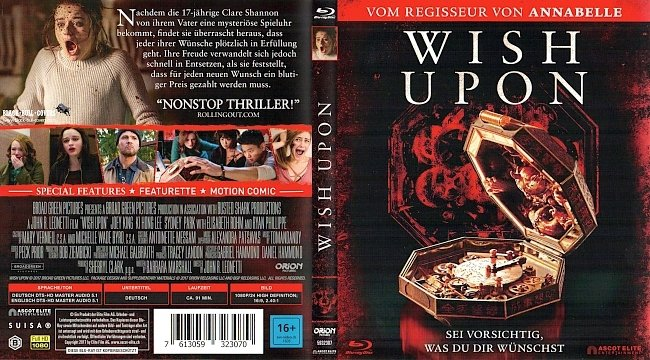 Wish Upon Cover Bluray Deutsch German german blu ray cover
