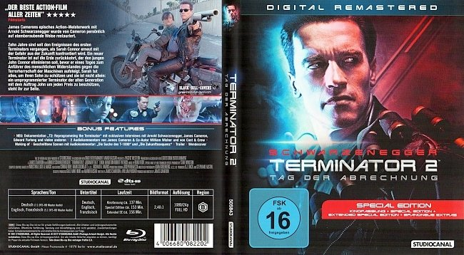 Terminator 2 Digital Remastered Tag der Abrechnung Cover Deutsch Bluray german blu ray cover