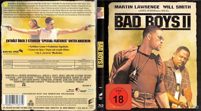 Bad Boys 2 Cover Blu ray Michael Bay Will Smith german blu ray cover