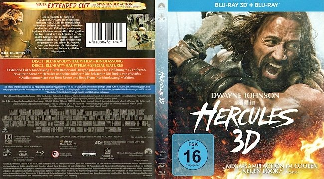 Hercules 3D Cover Blu ray Deutsch German Dwayne Johnson german blu ray cover