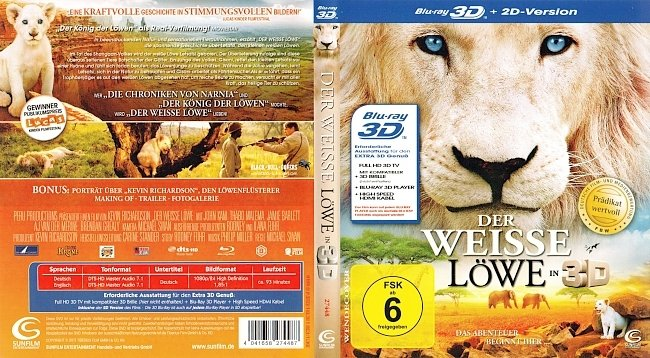 Der Weisse Loewe 3D Blu ray Cover Deutsch german blu ray cover