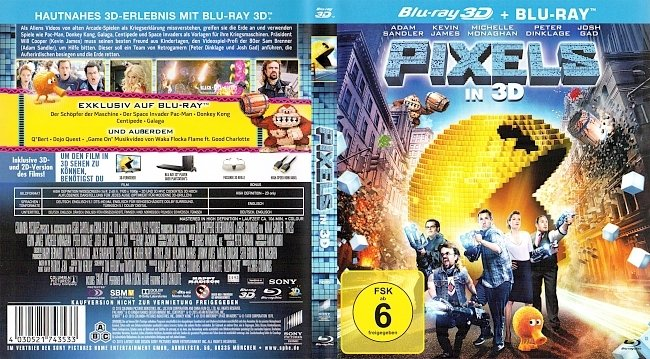 Pixels 3D Blu ray Cover Deutsch German german blu ray cover