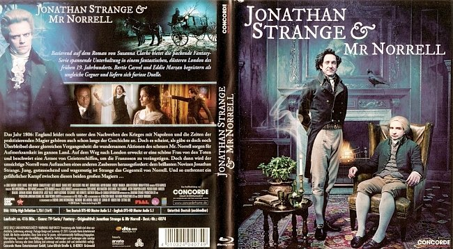 Jonathan Strange Mr Norrell Serie Blu ray TV Cover Deutsch german blu ray cover