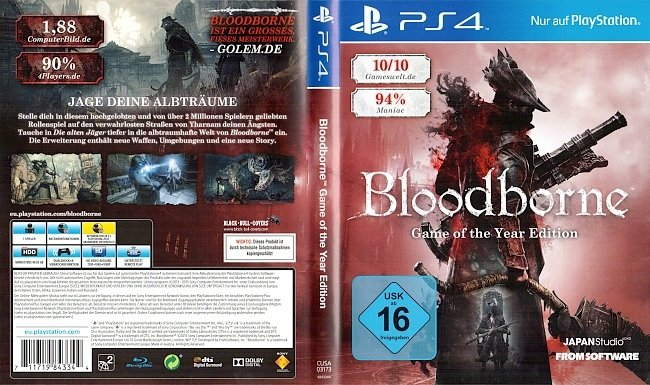 Bloodborne german ps4 cover german ps4 cover