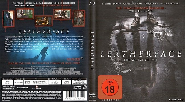 Leatherface The Source of Evil Cover Deutsch German Bluray german blu ray cover