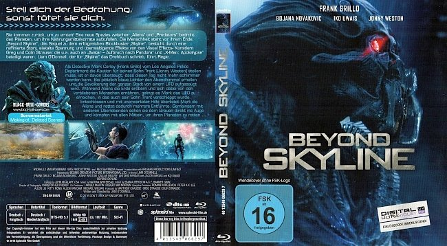 Beyond Skyline Cover Deutsch German german blu ray cover