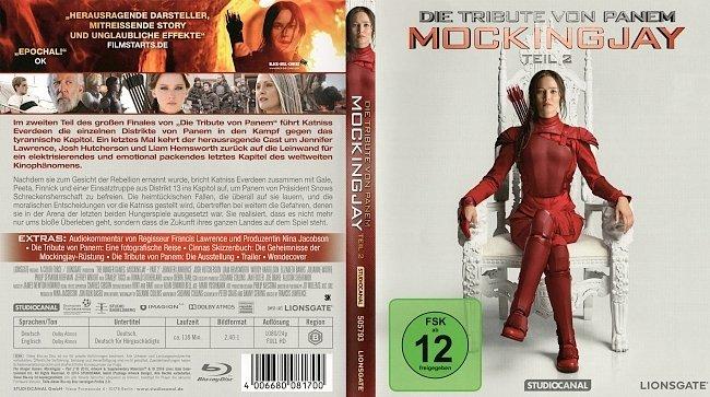 Die Tribute von Panem Mockingjay Teil 2 Cover Deutsch German Bluray mit FSK german blu ray cover