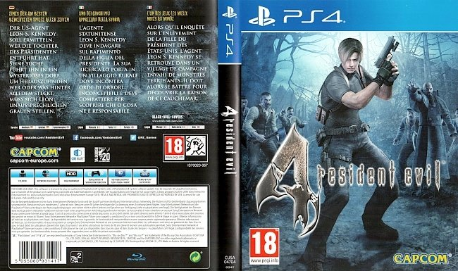 Resident Evil 4 Playstation 4 Cover Deutsch German german ps4 cover