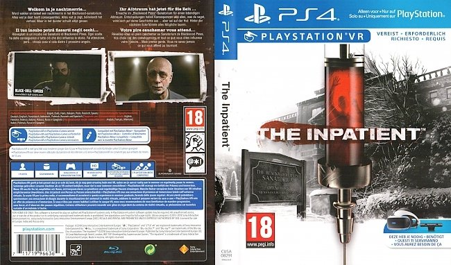 The Inpatient VR Playstation 4 PS4 Deutsch Cover German Supermassive Games Until Dawn german ps4 cover