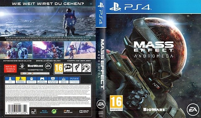 Mass Effect Andromeda Bioware Cover Deutsch EA Games German german ps4 cover
