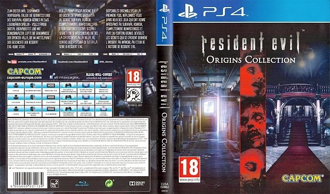 Resident Evil Origins Collection PS4 Cover Deutsch German german ps4 cover