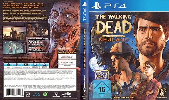 The Walking Dead Neuland A New Frontier Season Pass Cover Deutsch German PS4 german ps4 cover