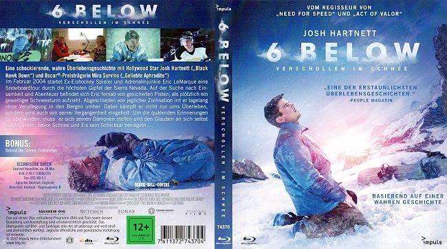 6 Below Verschollen im Schnee Cover German Deutsch BR BD german blu ray cover