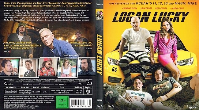 Logan Lucky Cover Deutsch German BD BR german blu ray cover