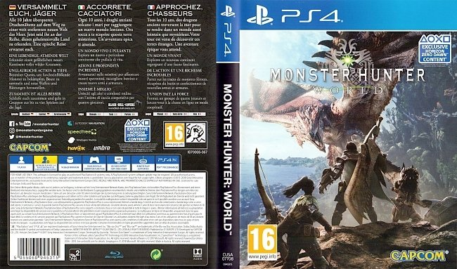 Monster Hunter World Cover Deutsch German PS4 german ps4 cover