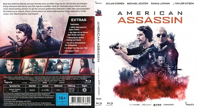 American Assassin Cover Bluray german blu ray cover