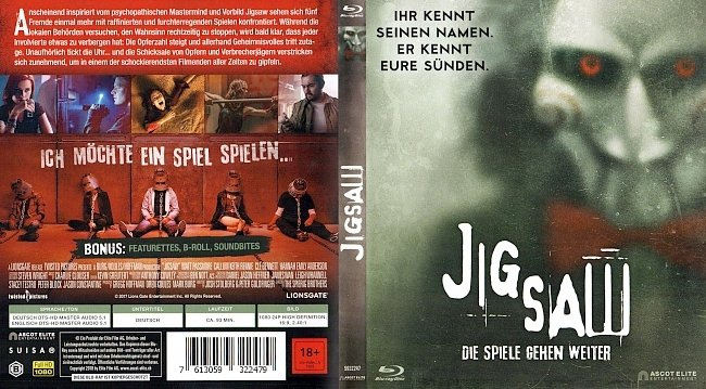 Jigsaw Cover Deutsch German Bluray german blu ray cover