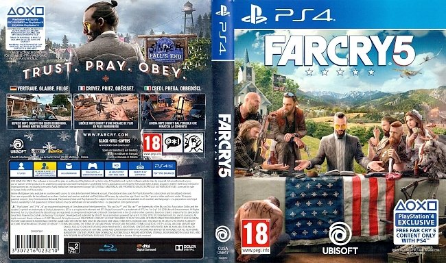 Far Cry 5 Cover PS4 Deutsch ps4 cover german
