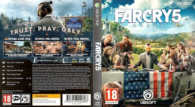 Far Cry 5 Xbox One Cover Deutsch German Francais Italiano german xbox one cover