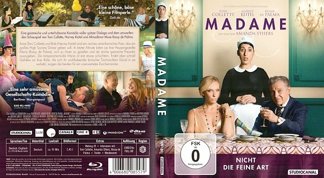Madame Cover Blu ray Harvey Keitel german blu ray cover