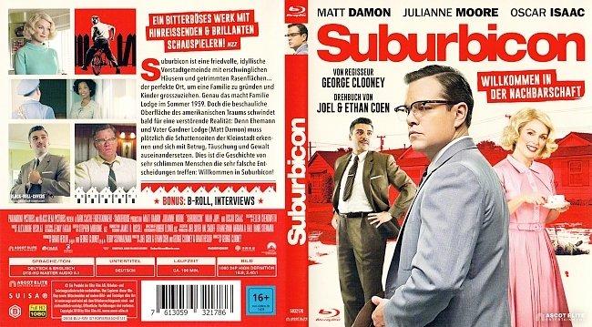 Suburbicon Cover Deutsch German Willkommen in der Nachbarschaft german blu ray cover