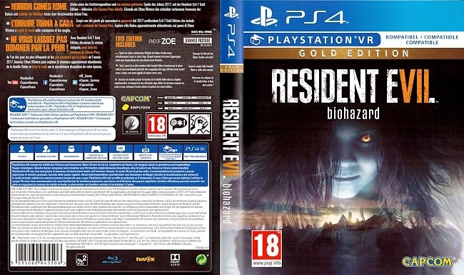 Resident Evil 7 Gold Edition Biohazard Cover PS4 german ps4 cover