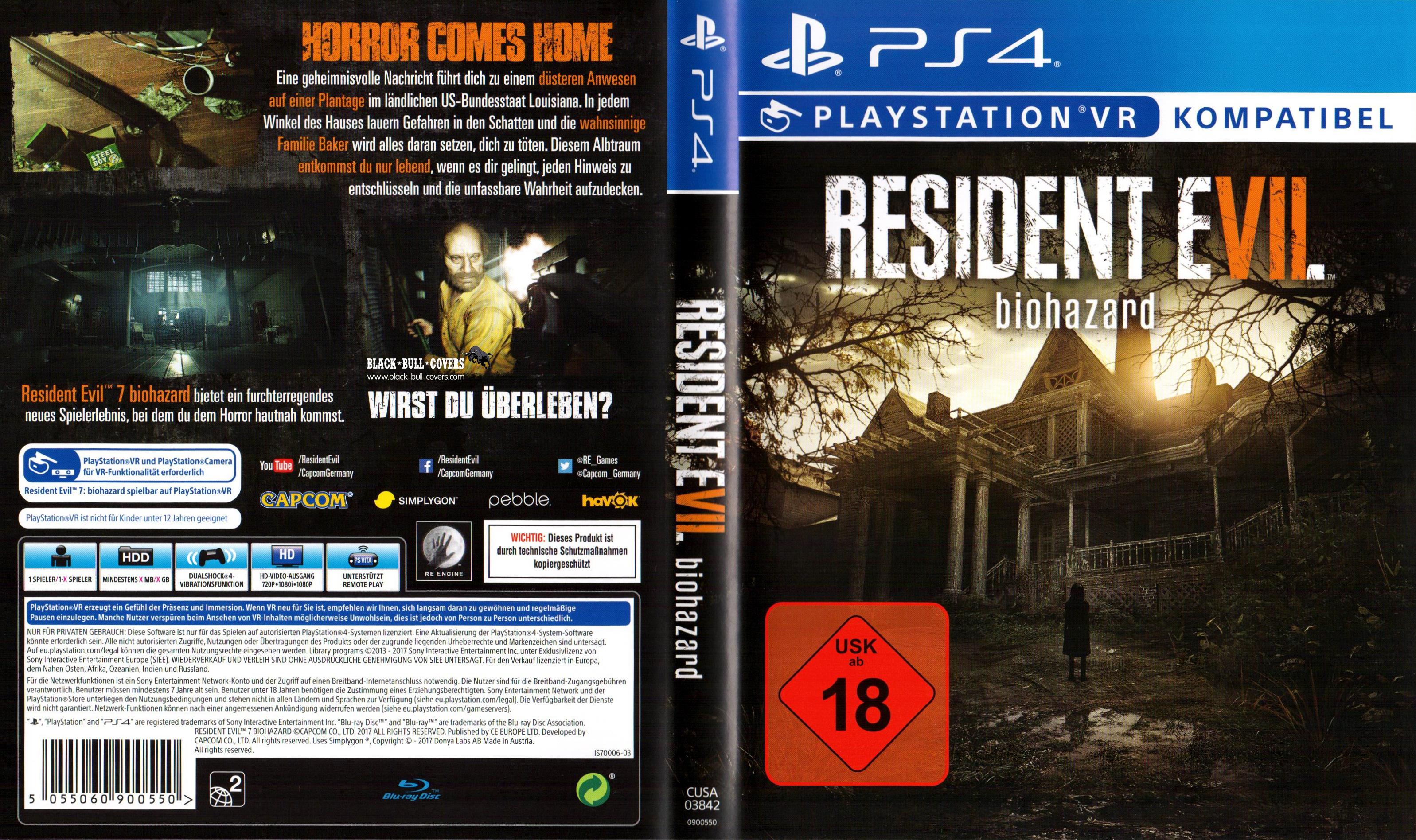 Resident Evil Biohazard Deutsch Cover PS4 ResidentEvil7 ...