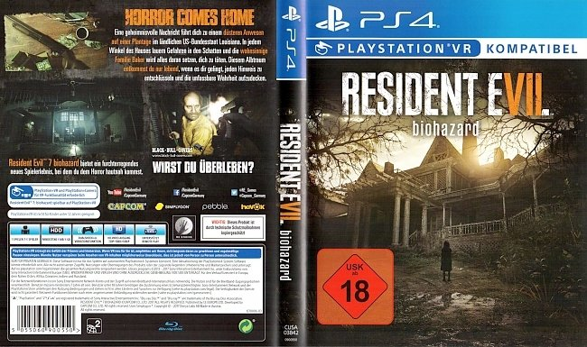 Resident Evil Biohazard Deutsch Cover PS4 ResidentEvil7 german ps4 cover