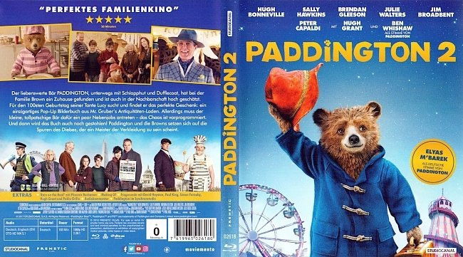 Paddington 2 Cover Deutsch Bluray german blu ray cover