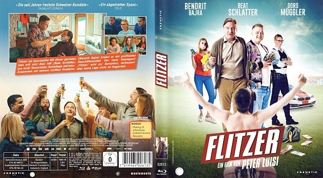 Flitzer Peter Luisi Cover Blu ray german blu ray cover