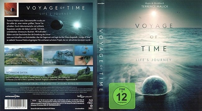 Voyage of Time Lifes Journey Cover Bluray german blu ray cover