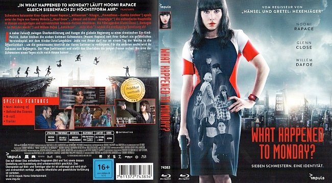 What Happenend to Monday Cover Bluray german blu ray cover