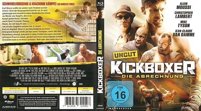 Kickboxer Die Abrechnung Cover Deutsch German Bluray german blu ray cover