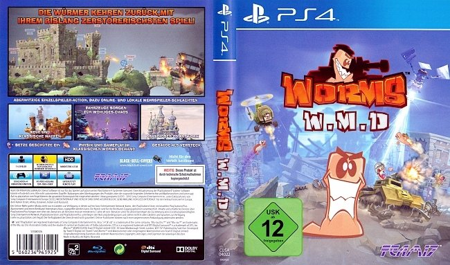 Worms WMD Cover PS4 Deutsch German german ps4 cover