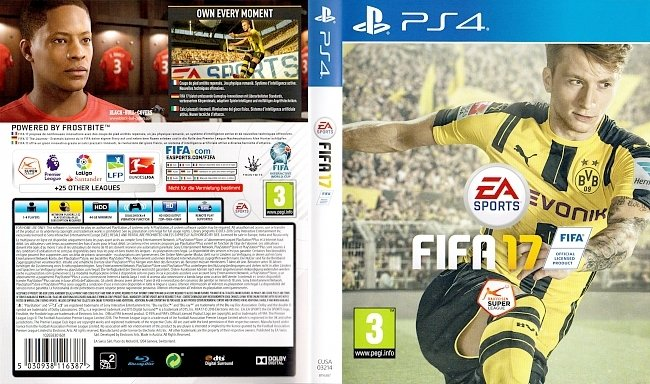FIFA 17 Cover PS4 Playstation 4 Deutsch German german ps4 cover